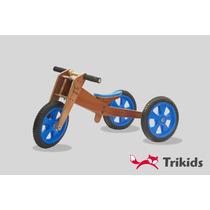 Triciclo Y Bicicleta Aprendizaje Madera Todo En 1 Trikids
