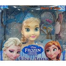 Cabeça De Boneca Elza Frozen Para Maquiar E Pentear