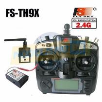 Flysky Sistema De Radio 9 Canais Lcd C/ Receptor 2.4ghz Fhds