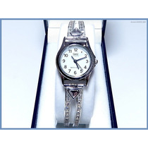 Reloj Swarovski Para Dama Hecho En Plata Solida
