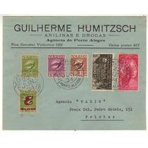 17374 Envelope Circulado Via Varig Porto Alegre Pelotas 1934