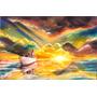 Quadro Surrealista Alto Mar Pintura Óleo Sobre Tela 60x90cm