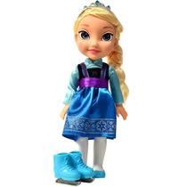 Boneca Do Filme Frozen Elsa Patinação No Gelo Grande 35cm