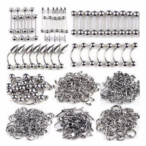 Ozzy Piercings Basico Atacado Lote Kit Com 100pcs Piercings