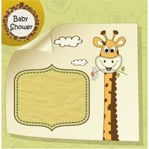 Baby Shower Safari 1 Kit Imprimible Tarjetas Animalitos Selv