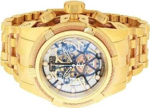 6494400d722 Relógio Invicta 12763 Bolt Zeus 13757 Az 13756 Rosê Skeleton - R ...
