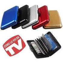 12 Piezas Cartera Tipo Aluma Wallet Porta Credencial Mayoreo