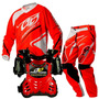 Kit Motocross Pro Tork Infantil Insane 3 Vermelho Kids