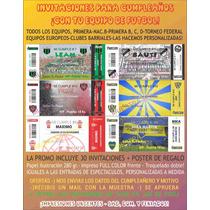 Invitaciones Cumpleaños-todos Los Equipos!!! + Regalo - Ofer