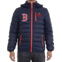 Jaqueta Masculina New Era Split Pocket Boston Redsox Marinho