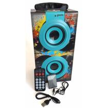 Bocina Usb Mp3 Sd Portatil Stereo Fm Recargable Diseño Lujo