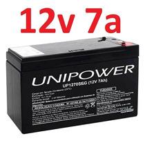 Bateria Selada 12v 7a Up1270seg Alarme Cerca 7ah Unipower *