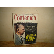 Revista Contenido, Cárdenas De Carne Y Hueso - 1978