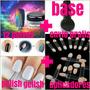Kit Polvo Holografico +base +gelish +aplicador +envio