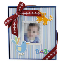 Álbum De Fotos Infantil P/ 50 Fotos 13x18 E 1 Foto Capa Azul