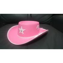 Sombrero Rosa Vaquero Sheriff Disfraz Vaquerita Fiesta Niño