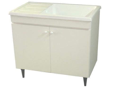 Mueble lavadero 75 melamina 18 con pileta fibra marmolina for Lavadero medidas