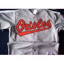 Jersey Autentico Majestic Color Gris De Baltimore Orioles.
