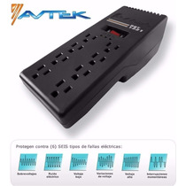 Regulador De Voltaje Avtek 8 Tomas, Televisor Y Computadora