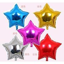 Globos Metalizados Por 10 Corazon O Estrellas 45cm