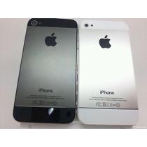 Carcasa Tapa Trasera Iphone 5 C/ Botones Dorada Plata Neg Or