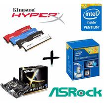 Kit Proc G3250 + Asrock H81m + Mem 4gb Kingston Hyperx
