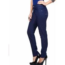 Calça Feminina Em Jeans Com Tachas