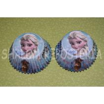 *capacillos Anna Y Elsa Frozen Disney Cupcake Fondant Quequi