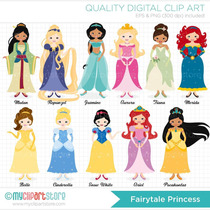 Kit Imprimible Princesas Disney 26 Imagenes Clipart