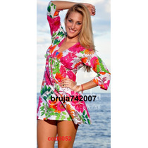 Ropa Playera - Hindu Bluson-vestido Algodon S,m,l,xl