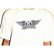 Camiseta Aerosmith Banda De Rock Rockstar Astors Algodao