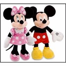 Peluche Minnie Y Mickey Mouse 38cm Originales