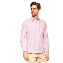 Hpc Polo - Camisa Vestir Fantasia 3005 Mod. 12 - Rosa - 3005