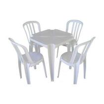 Conjunto De Mesas E Cadeiras De Plástico Jv4 120kg