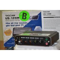 Placa Interface De Audio Tascam Us125 Usb C/ Função Mixagem