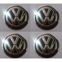 Emblema Volkswagen Aluminío Vw Botom Calota Ou Roda 48mm 4 P