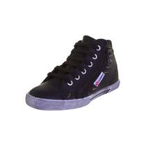 Tênis Botinha Sneaker Superga 2224 - Spike Couro Preto
