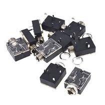 Uxcell 10 Piezas De Plástico De Montaje En Pcb 5-pin Estéreo