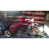 Triciclo Antiguo Metalico Colror Rojo Radio Flyer No Apache
