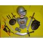 Fantasia Infantil Gladiador Capacete Armadura Escudo Espada