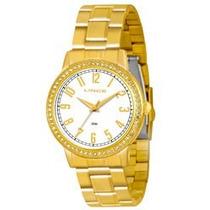 Relógio Lince Dourado Feminino (orient) Lrg4258l Prova Dágua