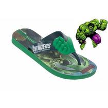 Chinelo Ipanema Infantil Hulk Vingadores Original - Clique+