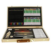 Kit De Pintura Art Supply® Acuarela Oleo Acrílico 50 Piezas