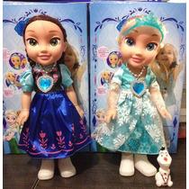 Boneca Frozen Musical Elsa Cantora + Olaf Ou Ana Cantora+ola