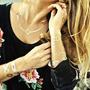 Damas Tatuaje Temporal Dorado Moda Cadena Pulsera Arete Play