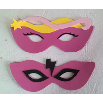 Antifaces Barbie Y Barbie Super Princesa Pack X 10 Unidades