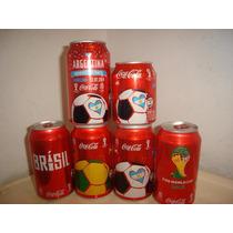 Latas Coca Cola Mundial 2014 Brasil Set Completo X 6 T6h4