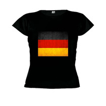 Camiseta Baby Look Bandeira Alemanha