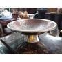 Frutero Hindu En Bronce Antiguo Tallado