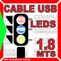 Usb Tipo A Y B Moderno Con Leds Multicolor Computoys Zcus18l